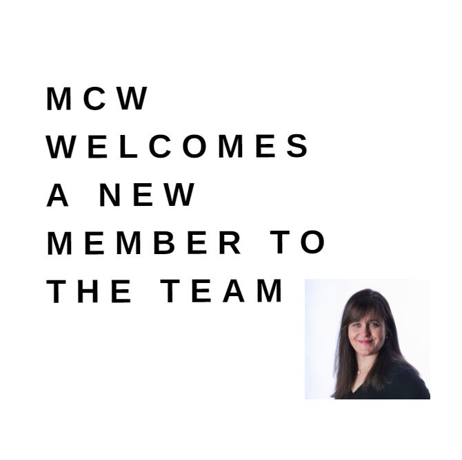 MCW welcomes new team member graphic