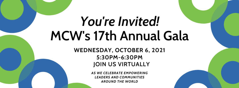 MCW Gala 2021 – Virtual – SAVE THE DATE