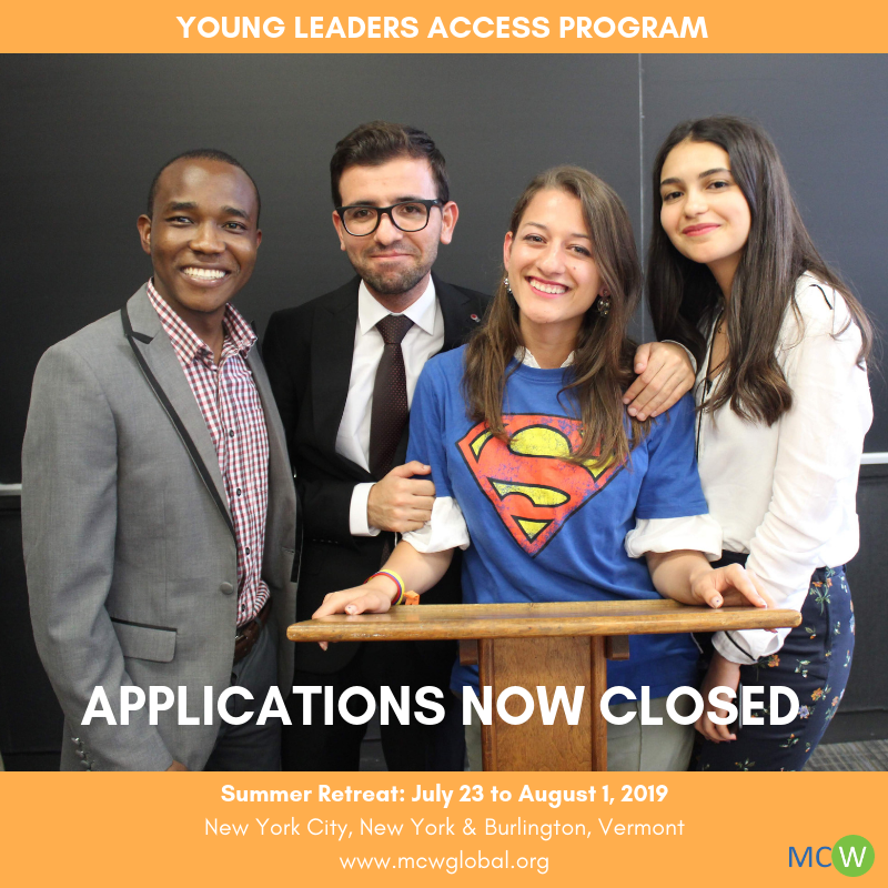 2019 Young Leaders Access Program Call for Applications | MCW Global